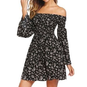 Dresses & Skirts - Off the shoulder flare sleeve dress - new with tag